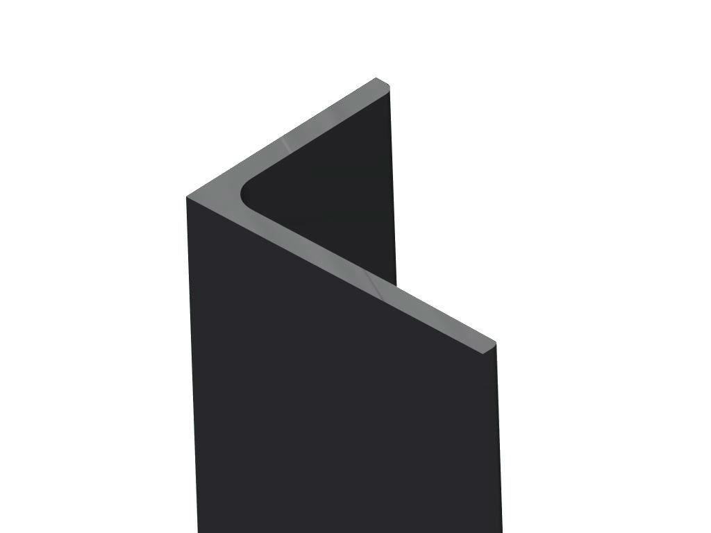 Ongelijkzijdig hoekprofiel 150x100x10 stralen - menie